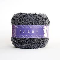 Пряжа с мериносом букле RABBY Bubble графитовая 50г