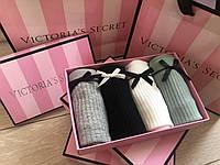 Подарочный набор женского нижнего белья трусики слипы Виктория Сикрет Victoria's Secret