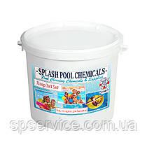 Медленно растворимые таблетки хлора для комплексной дезинфекции воды в бассейне 3 в 1 по 20 г Сплеш 5 кг