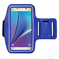 Универсальный спортивный чехол для смартфона до 5.5 дюймов на руку для бега Синий