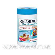 Хлорные таблетки 3 в 1 для длительной дезинфекции воды в бассейне по 20 г Сплеш 1 кг