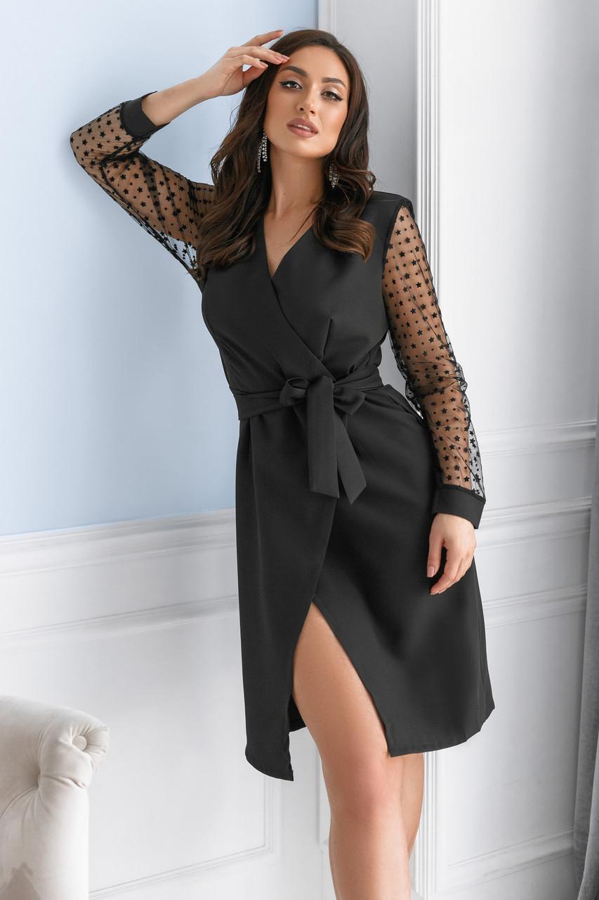 Женское платье Батал Черный