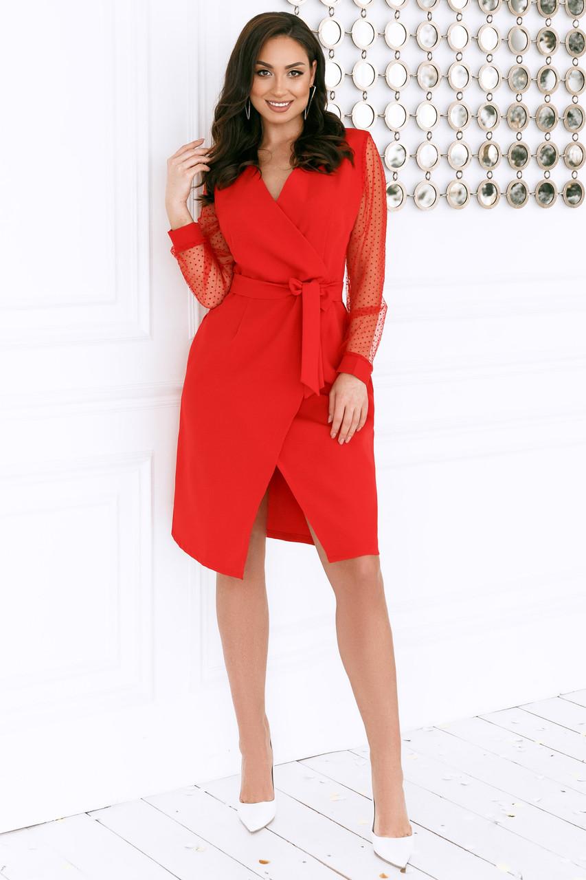 Женское платье Батал Красный
