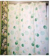 Шторка для ванної з кільцями Miranda CIRCLE GREEN (Туреччина) 180х200 см, фото 1