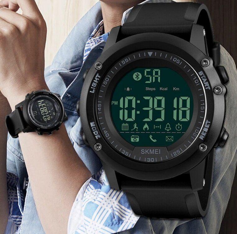 Skmei 1321 DYNAMIC черные спортивные мужские часы