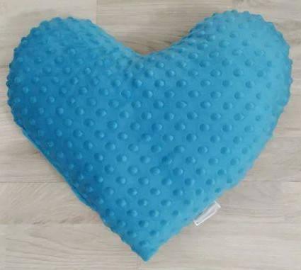 Подушка плюшевая голубая Сердце 40х40 см, фото 2