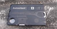 """Мультитул / инструмент карта / визитка """"8 в 1"""" (в т.ч. письменная ручка, фонарик, пинцет, ножницы)"""
