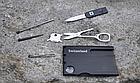 """Мультитул / инструмент карта / визитка """"8 в 1"""" (в т.ч. письменная ручка, фонарик, пинцет, ножницы), фото 3"""
