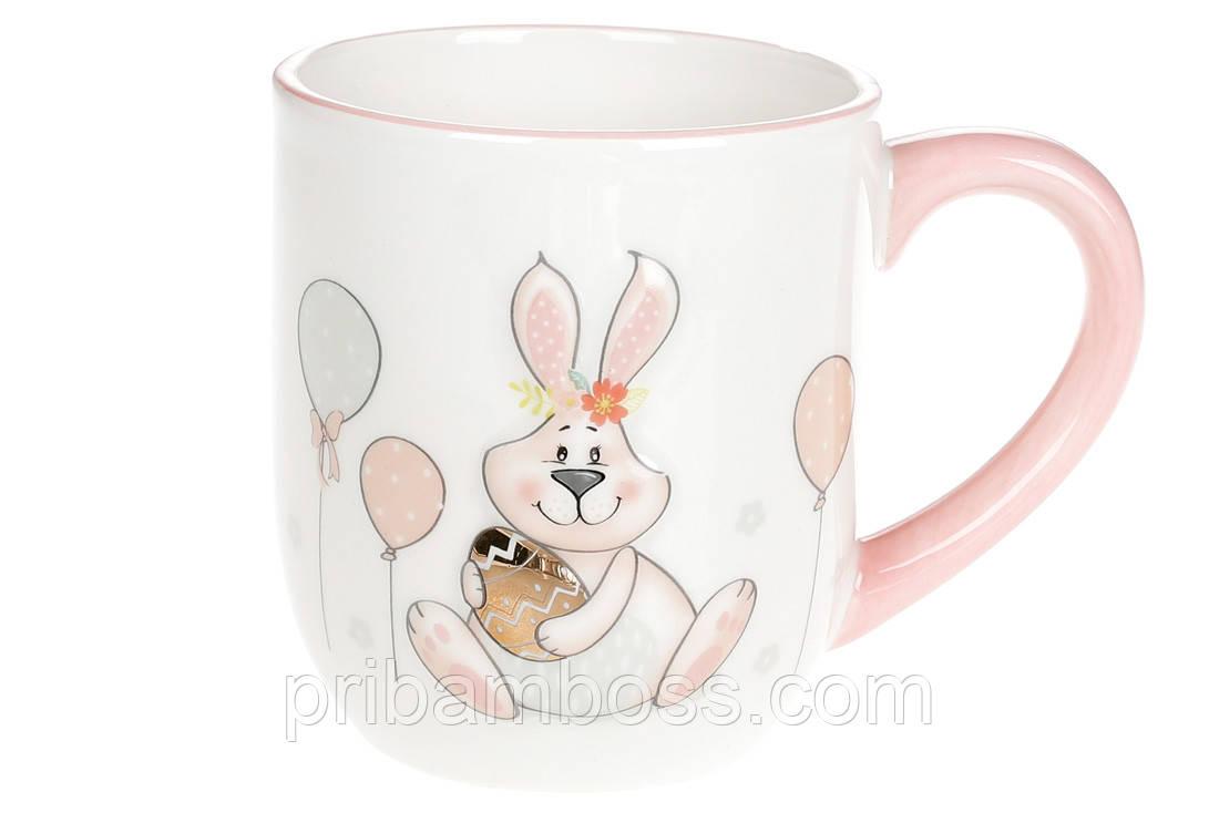 Кружка керамическая 500мл с объемным рисунком Веселый кролик