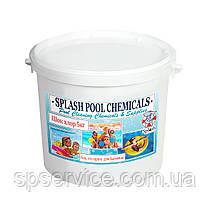 Шок хлор быстрого действия в таблетках по 20 г для регулярной дезинфекции воды в бассейне Сплеш 5кг
