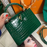 Модная женская сумка LOUIS VUITTON  CAPUCINES 27 см кожа под крокодила (реплика), фото 1