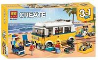 Конструктор серії Creator Bela 3v1 Фургон серфінгистів (Аналог Lego 31079) 391 Деталь