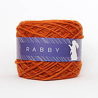 Пряжа с альпакой RABBY Drammatico рыжая 50г