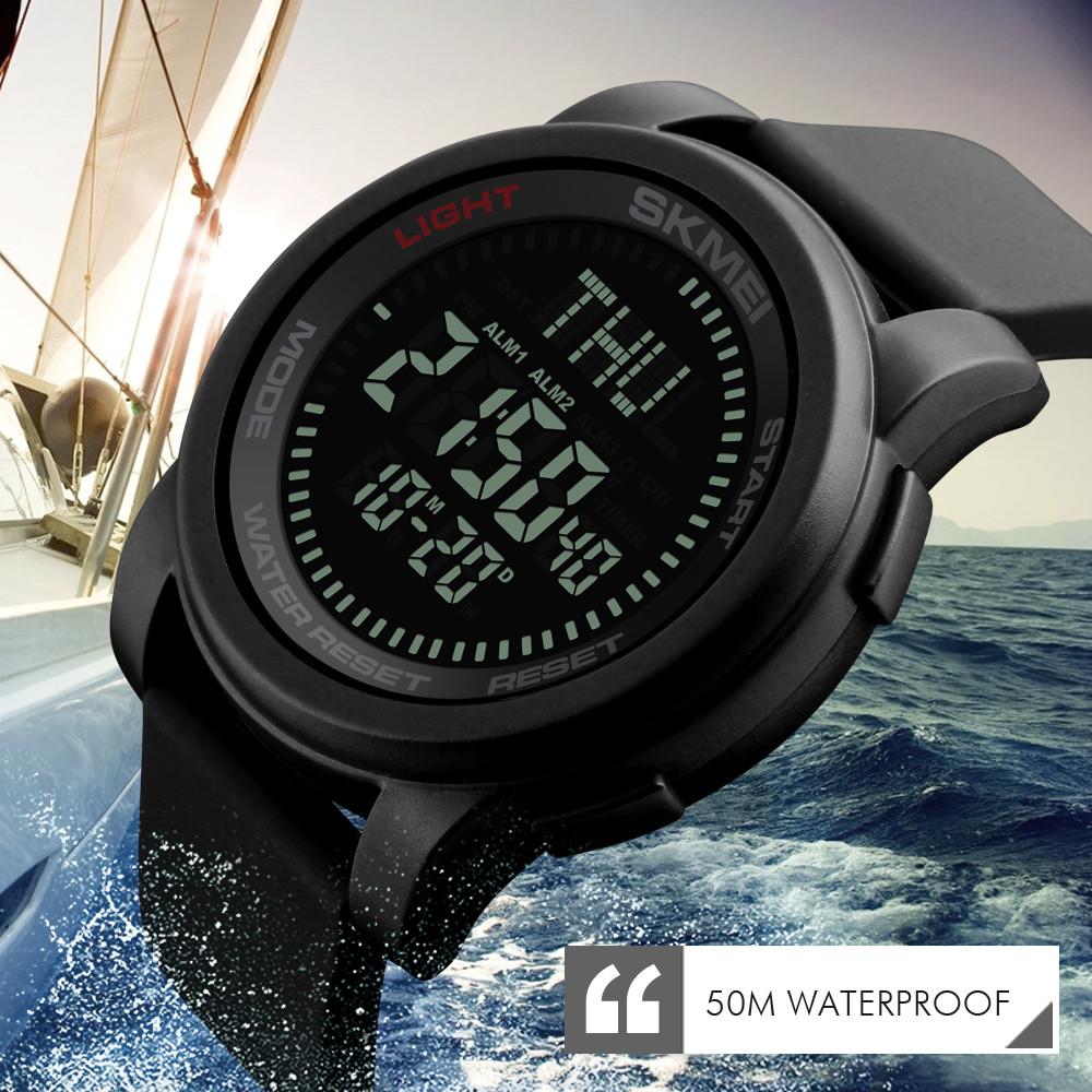 Skmei 1289 Compass черные спортивные часы с компасом