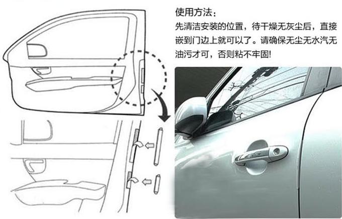 Накладки на полімерні кант дверей авто / авто від сколів і ударів, захист лакофарбового покриття