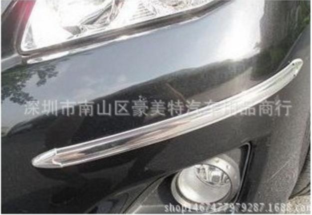 Накладки / молдинги от повреждений, защитные на бампер авто