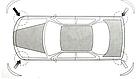 Накладки / молдинги от повреждений, защитные на бампер авто, фото 2