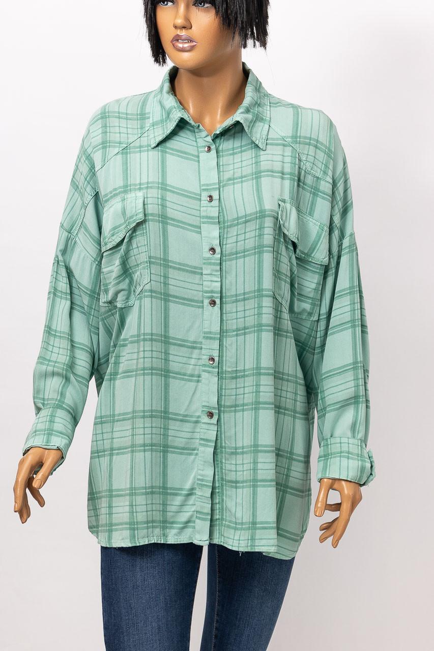 Рубашка с длинным рукавом женская WIYA 18061-1 MENTA (MINT)