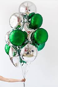 """Набор из 15-и фольгированных шаров """"Изумруд"""""""