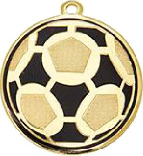 Медаль футбольная диаметром 50 мм. DI5009