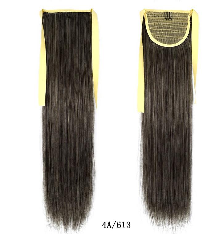 Купити Шиньйон Кінський Хвіст 60 см. на стрічці мелірування на темне волосся