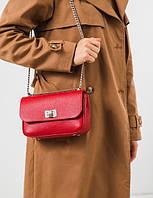 Жіноча шкіряна сумка на ланцюжку NICE, фото 1