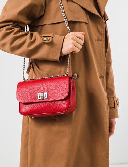 Жіноча шкіряна сумка на ланцюжку NICE