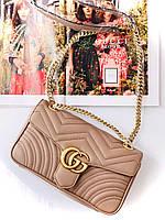 Женская Сумочка на плечо Gucci 'GG Marmont' 26 cm (реплика), фото 1