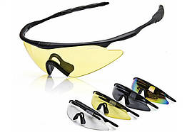Очки защитные тактические / спортивные с монолинзой X100 3 Commandos Storm Phoenix