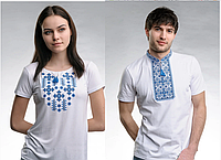 Р-р 44, 46, 48, 50, 52, 54, 56, 58, Парні футболки, вишиванки. Парные, для пары футболки вышиванки