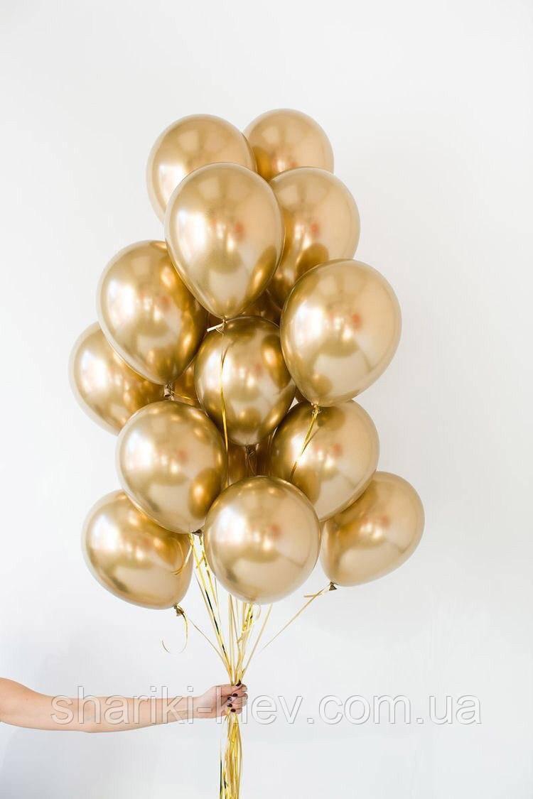 """Набір з 15 латексних кульок """"Gold"""""""
