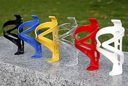 Крепление для фляги / флягодержатель велосипедный пластмассовый глянцевый ГОЛУБОЙ