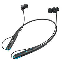 Беспроводные Bluetooth стерео наушники Sport Headset Wireless microSD для бега и занятия спортом Синий
