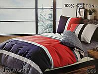 Сатиновое постельное белье полуторное ELWAY 5069 «Линии»