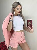 Молодежный женский костюм тройка с пиджаком в 2 цветах