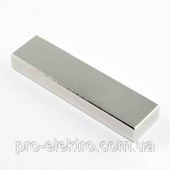 Неодимовый магнит прямоугольник 80х20х10 мм