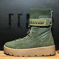 Женские ботинки PumaScuba Boot Rihanna Fenty, Реплика люкс, фото 1
