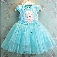 Нарядное платье принцессы Эльзы, Фроузен, Холодное сердце 4-6 лет