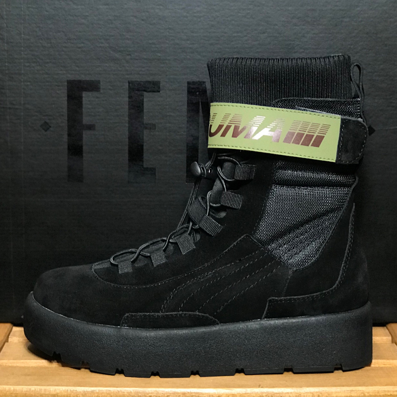 Женские ботинки PumaScuba Boot Rihanna Fenty, Реплика люкс