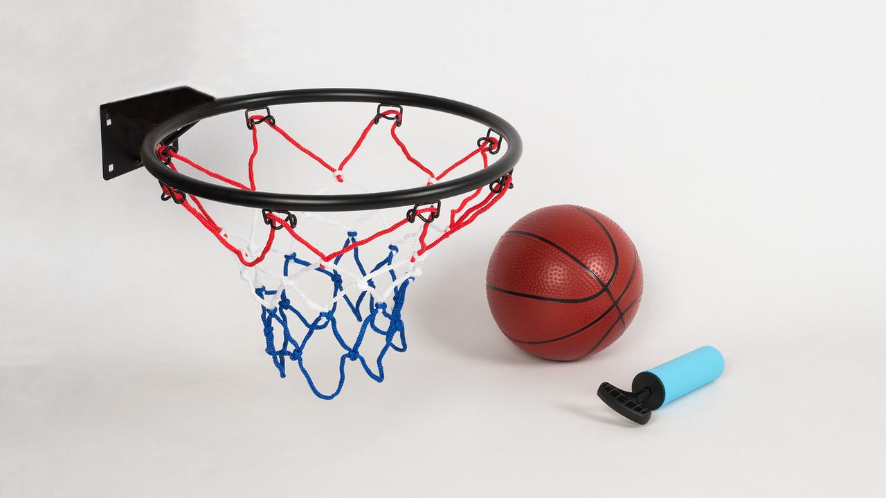 Баскетбольное кольцо M5965 металлическое. В комплекте мяч и насос