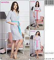 Женский  халат  с карманами 5 размеров