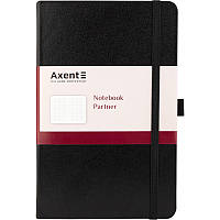 Книга записная Partner, 125*195, 96л, клет, черная, AXENT, 8201-01-A