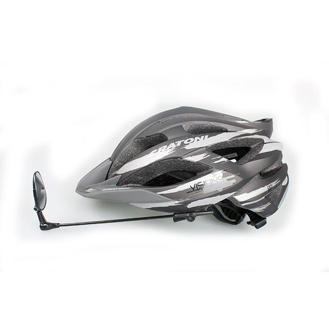 Дзеркало заднього виду велосипедне на шолом швидкознімне, три ступені свободи