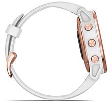 Смарт-годинник Garmin fenix 6S Pro - Rose Gold-tone with White Band, фото 2