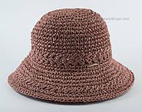 Летняя маленькая шляпка коричневая