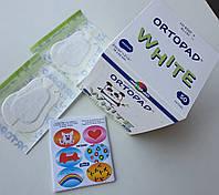 Итальянский гипоаллергенный детский глазной пластырь - окклюдер Ortopad белого цвета