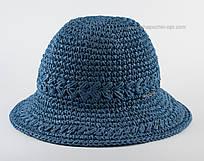 Оригинальная маленькая шляпка цвета джинс