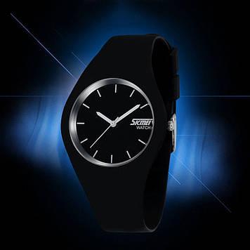 Skmei 9068 rubber черные женские тонкие часы