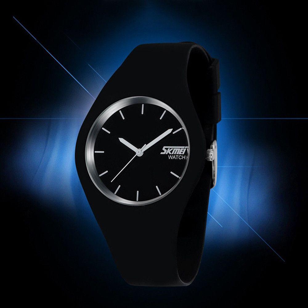 Женские часы Skmei  9068 RUBBER Черные