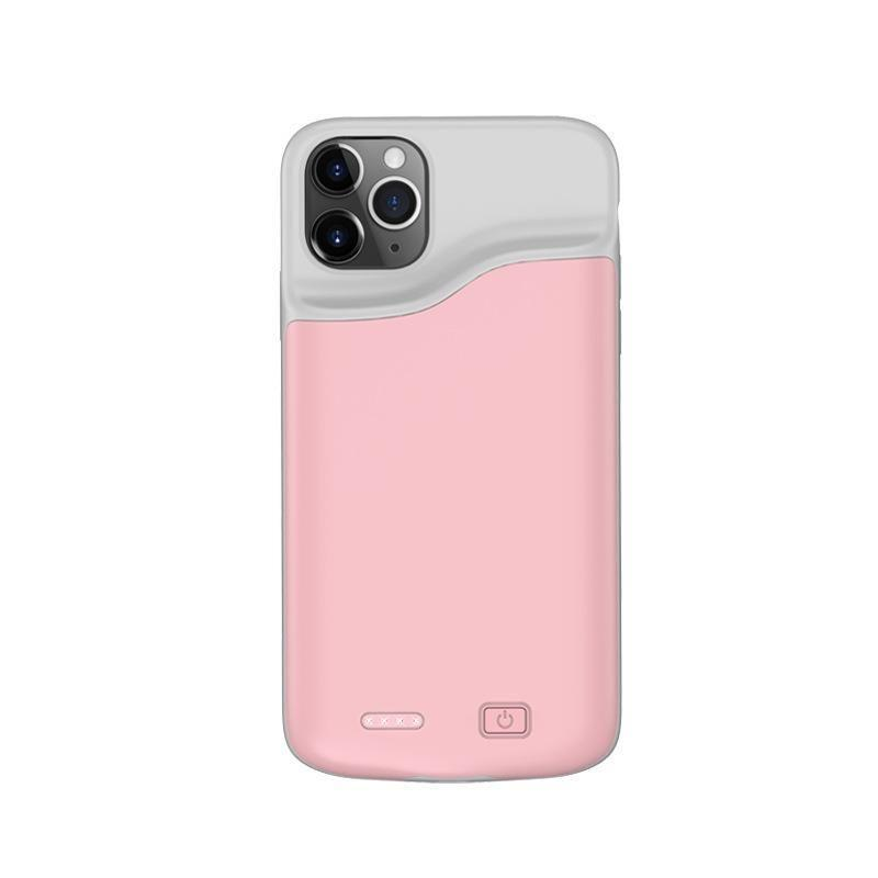 Чехол аккумулятор AmaCase для iPhone 11 Pro Розовый (6000 мАч)
